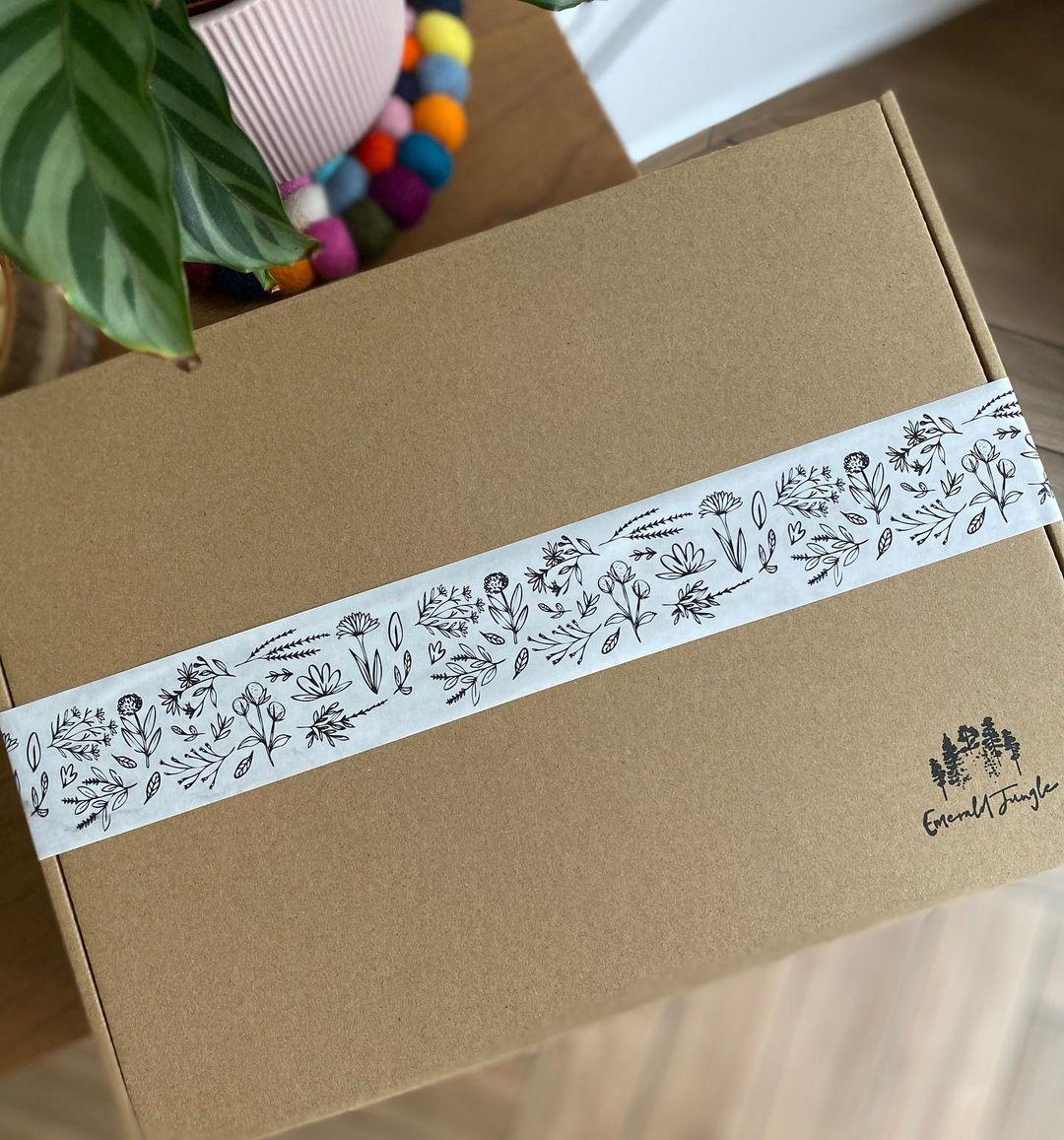 Customised tape on a box