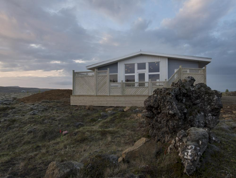 Icelandic Cottage surrounded by lava and moss