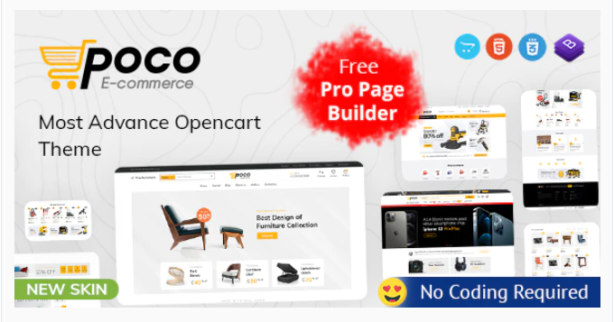 exceptional Opencart premium theme