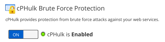 management brute force protection