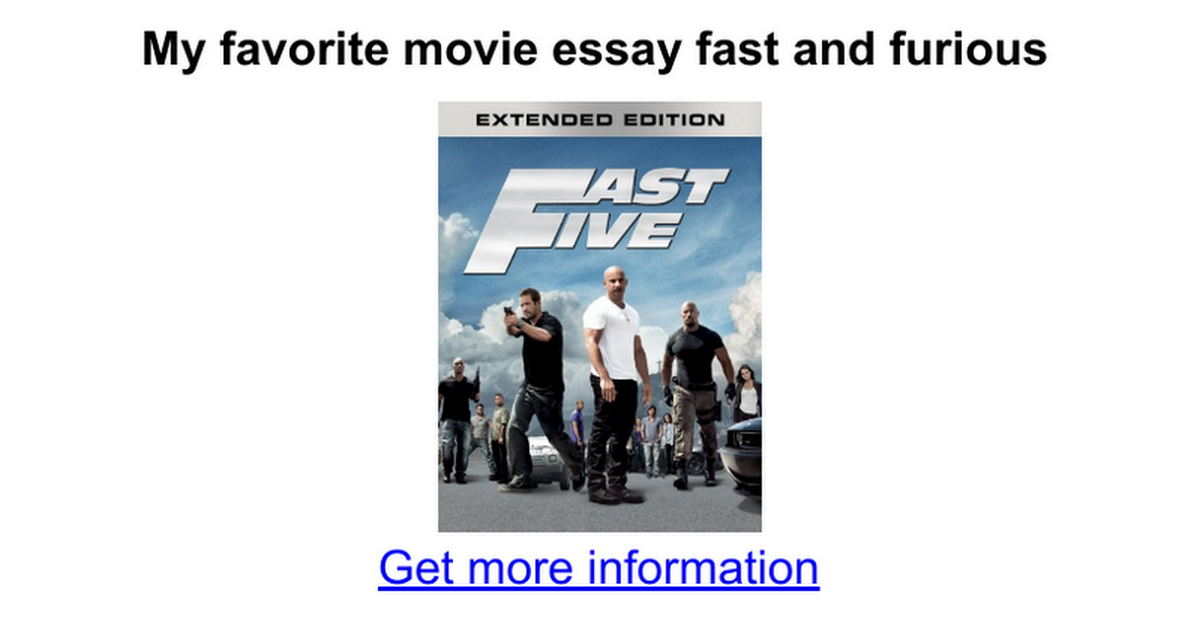 my favorite movie essay fast and furious google docs
