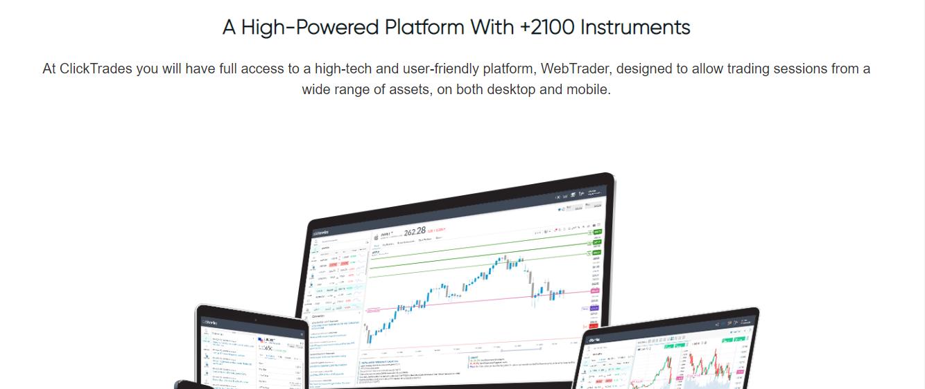 Trading Platform of ClickTrades