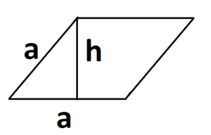параллелограмм с отображением высоты