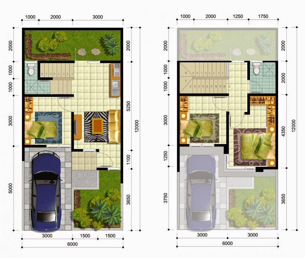 45 Koleksi Luar Biasa Dari Denah Rumah Minimalis 2 Lantai Luas Tanah 60 Meter Persegi Desain Rumah