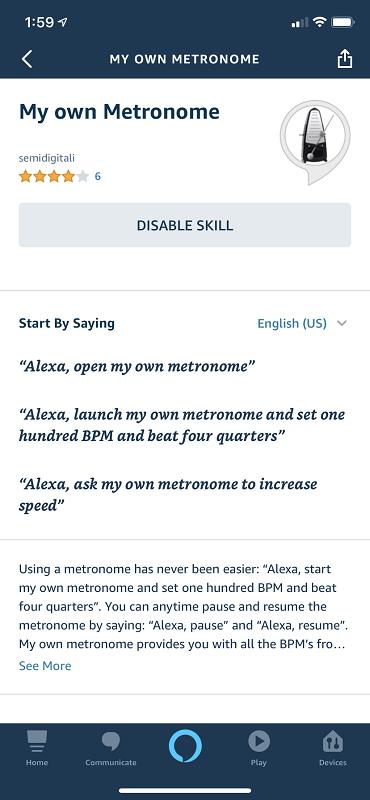 Alexa Skill Detail Page