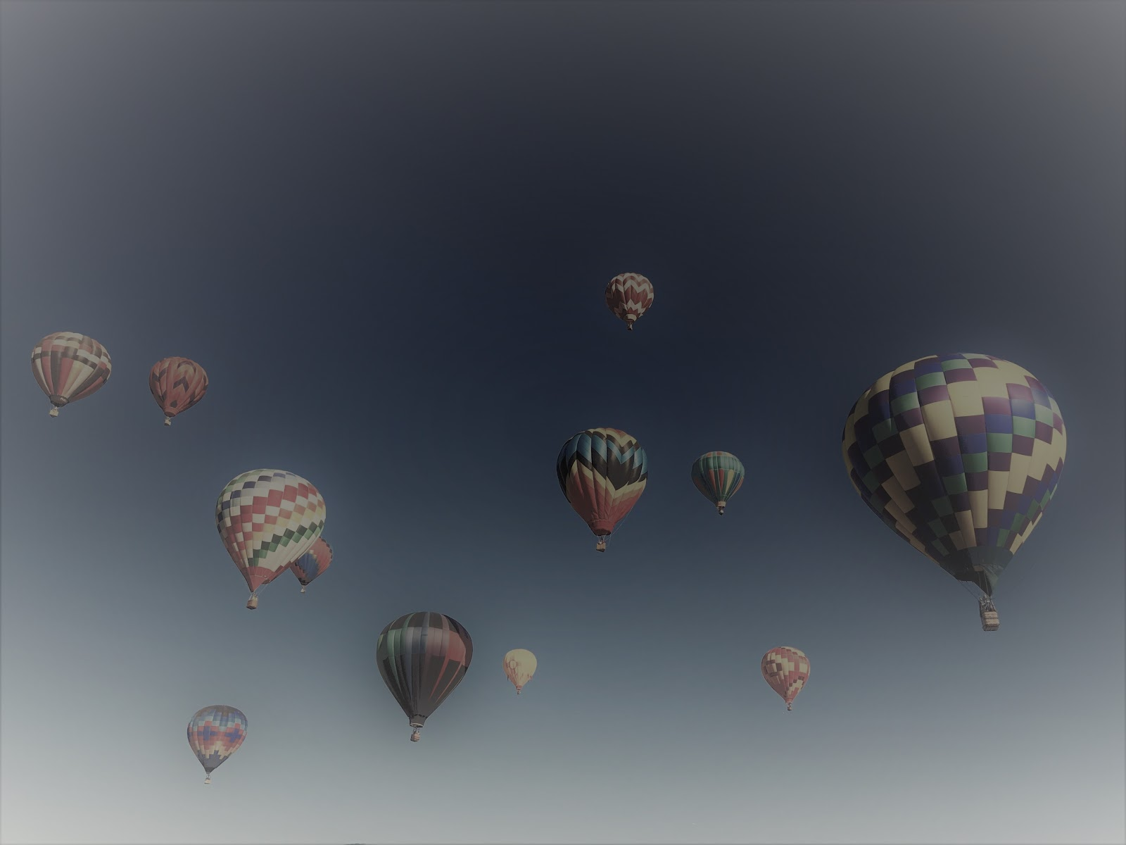 Hot air balloons - with cataracts