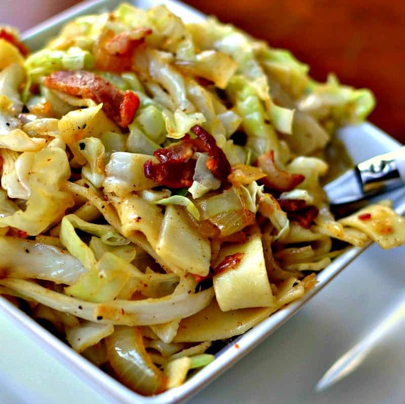 Haluski (Bacon Cabbage and Noodles) | Small Town Woman