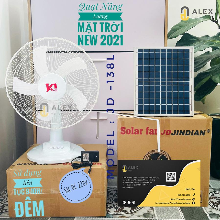 Mẫu quạt năng lượng mặt trời Jindian 15W