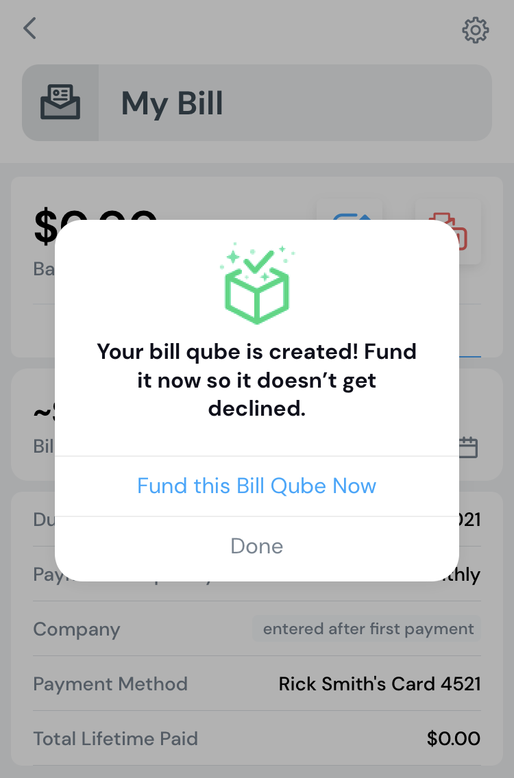 Bills home funding