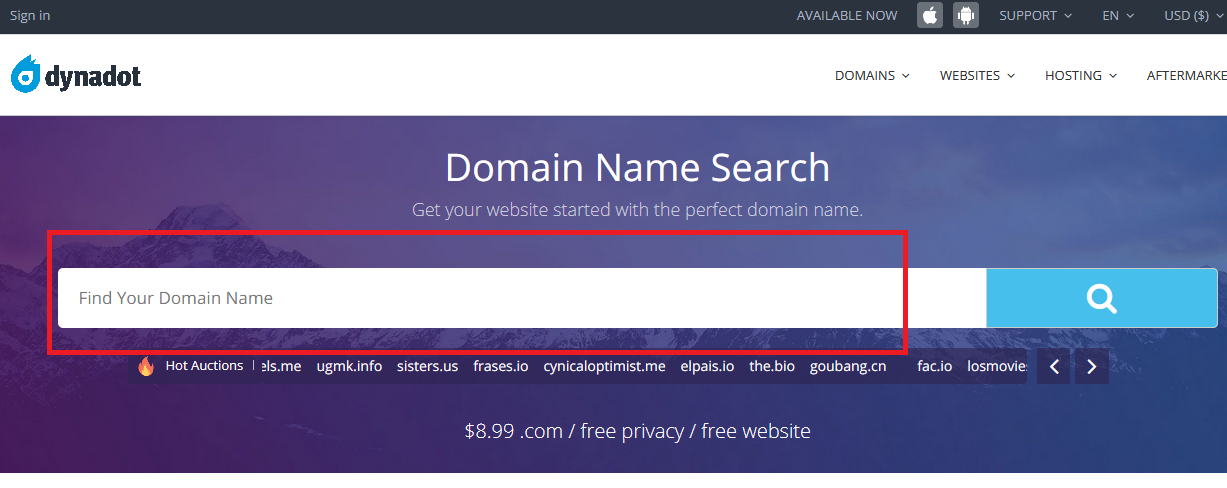 Buy Domain Name for Website