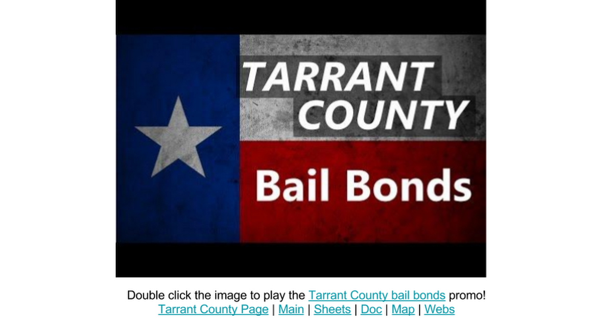 Thumbnail for Tarrant County Bail Bonds Video