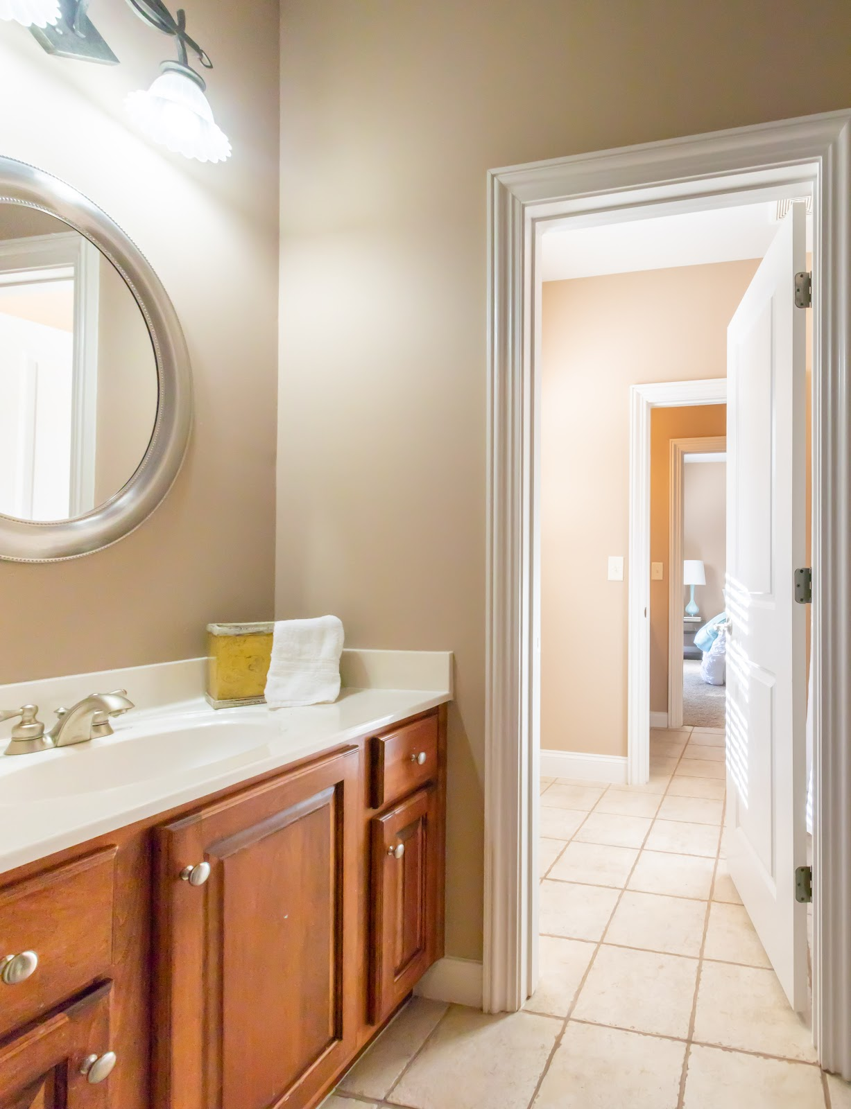 Mirrors help decorate a bathroom when staging