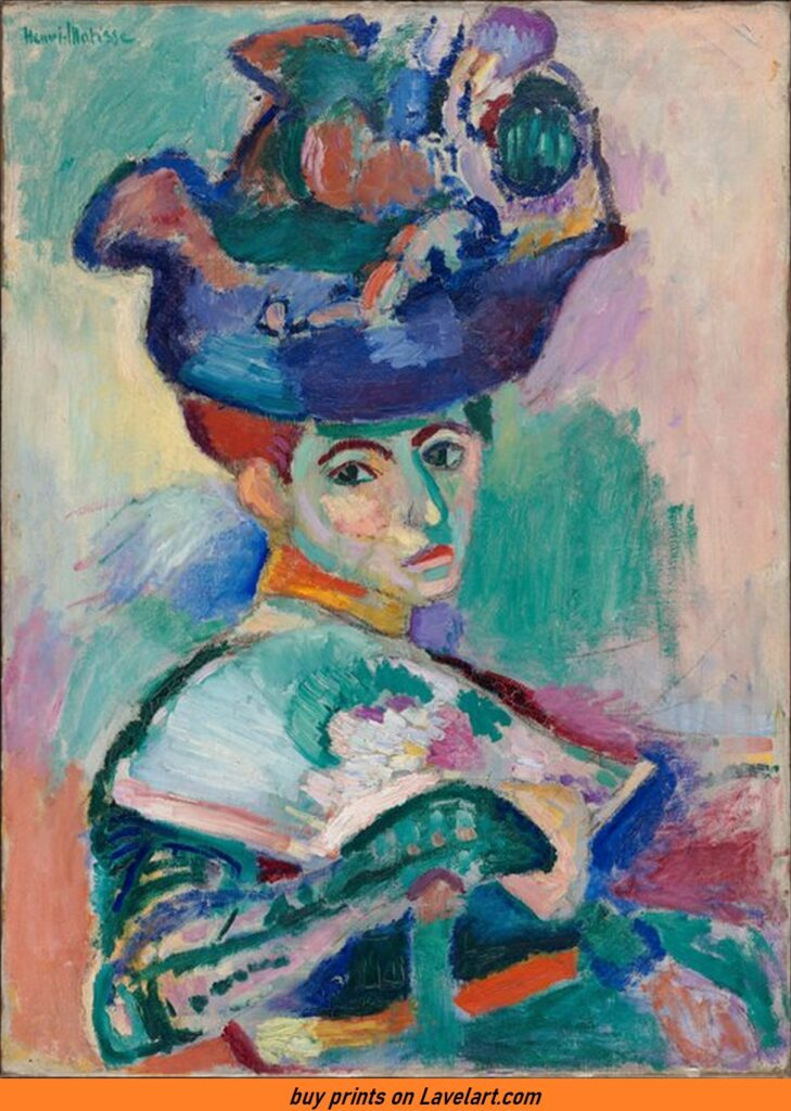 The lady with a hat matisse Painting photo image