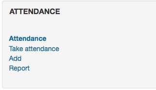 Attendance Block