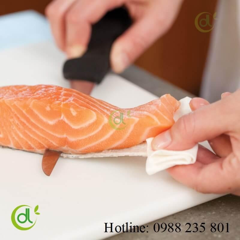 Lọc da cá hồi