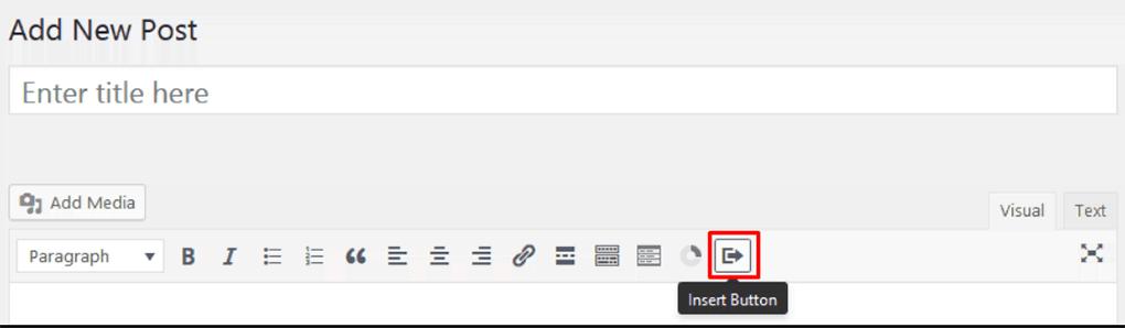 ícone de inserir botão do plugin forget about shortcode buttons