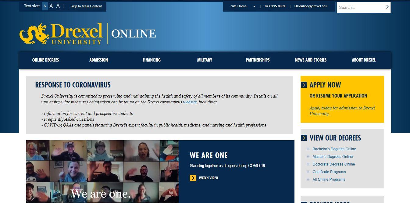 Drexel University online cybersecurity degree