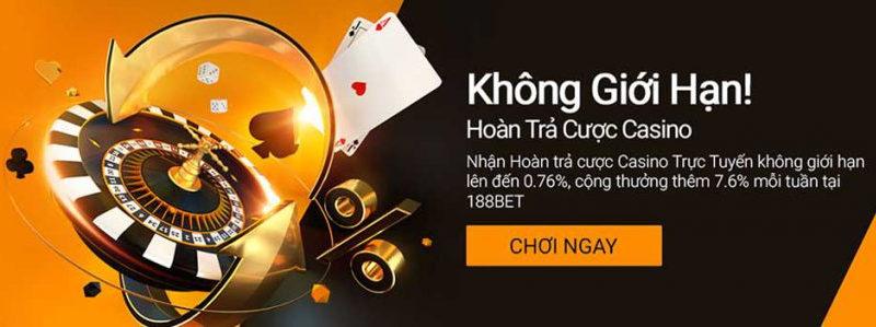Tham gia casino trực tuyến nhận hoàn trả hấp dẫn