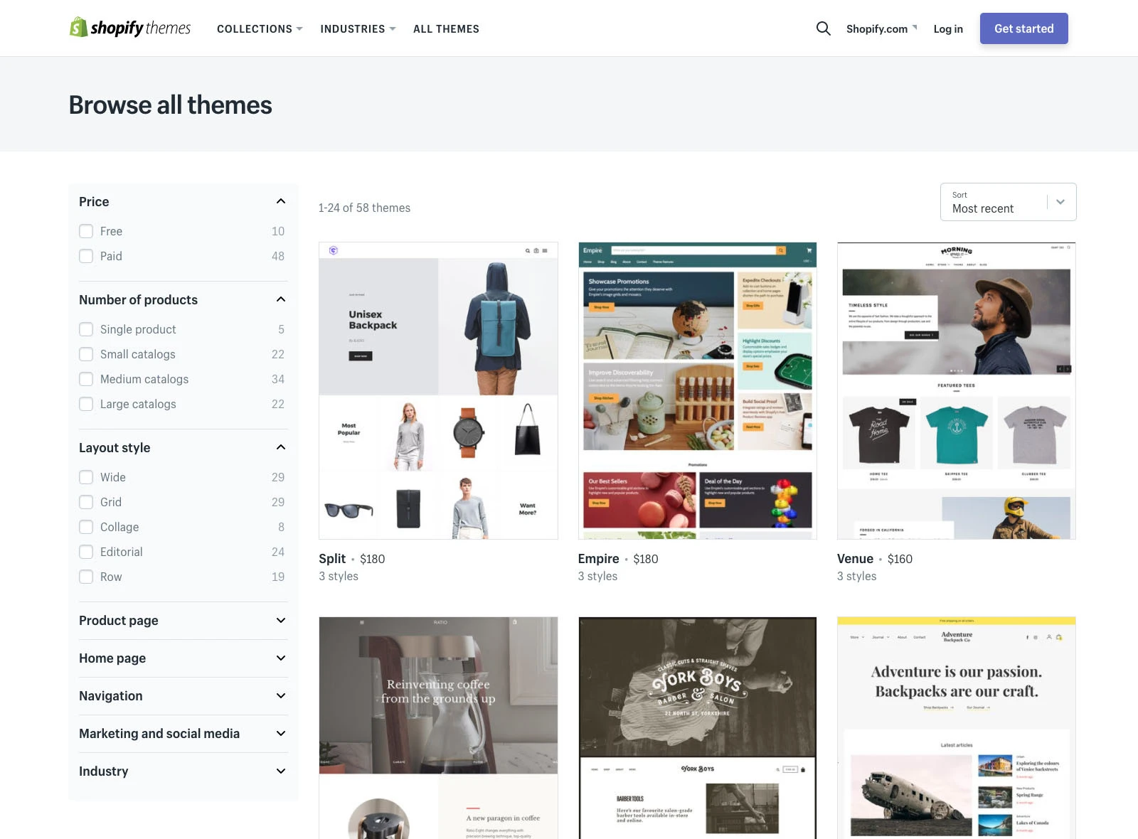 Many themes for your Shopify Dropshipping Store