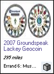 2007 Groundspeak Lackey Geocoin