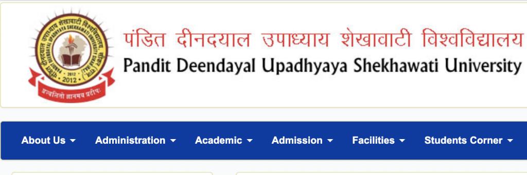 Shekhawati University website