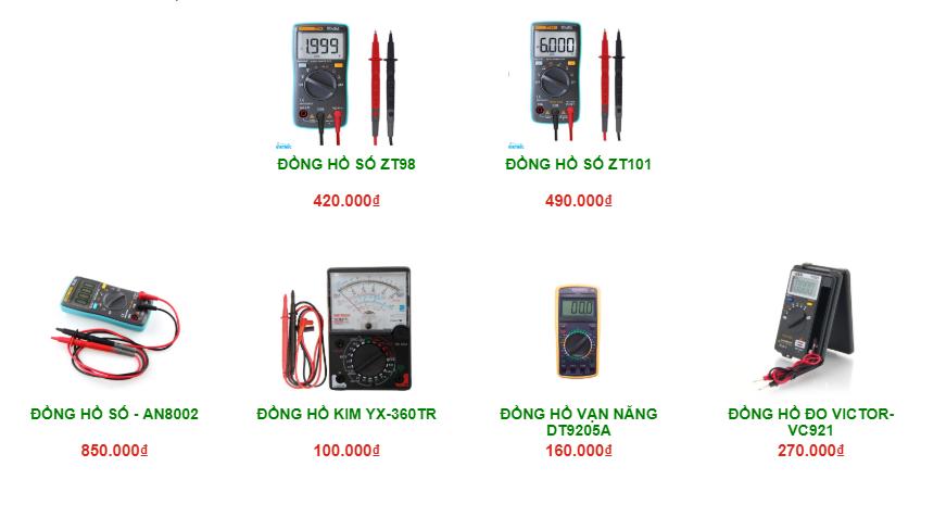 So sánh giá của đồng hồ kim với đồng hồ số - Linh kiện điện tử Vietnic