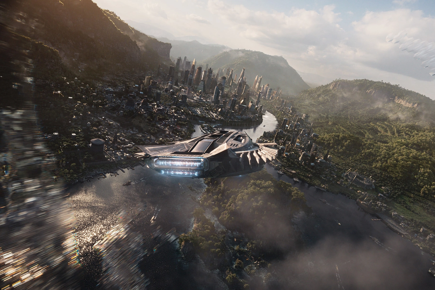 <p>Wakanda, the fictional super-advanced African nation rendered in Marvel Studio's movie of <em>Black Panther </em>(2018), is hidden from view from the rest of the world as a form of self-protection. Credit: Marvel Studios.</p>