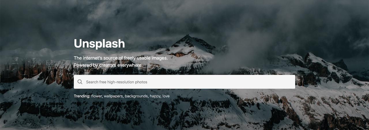 página de login do site Unsplash
