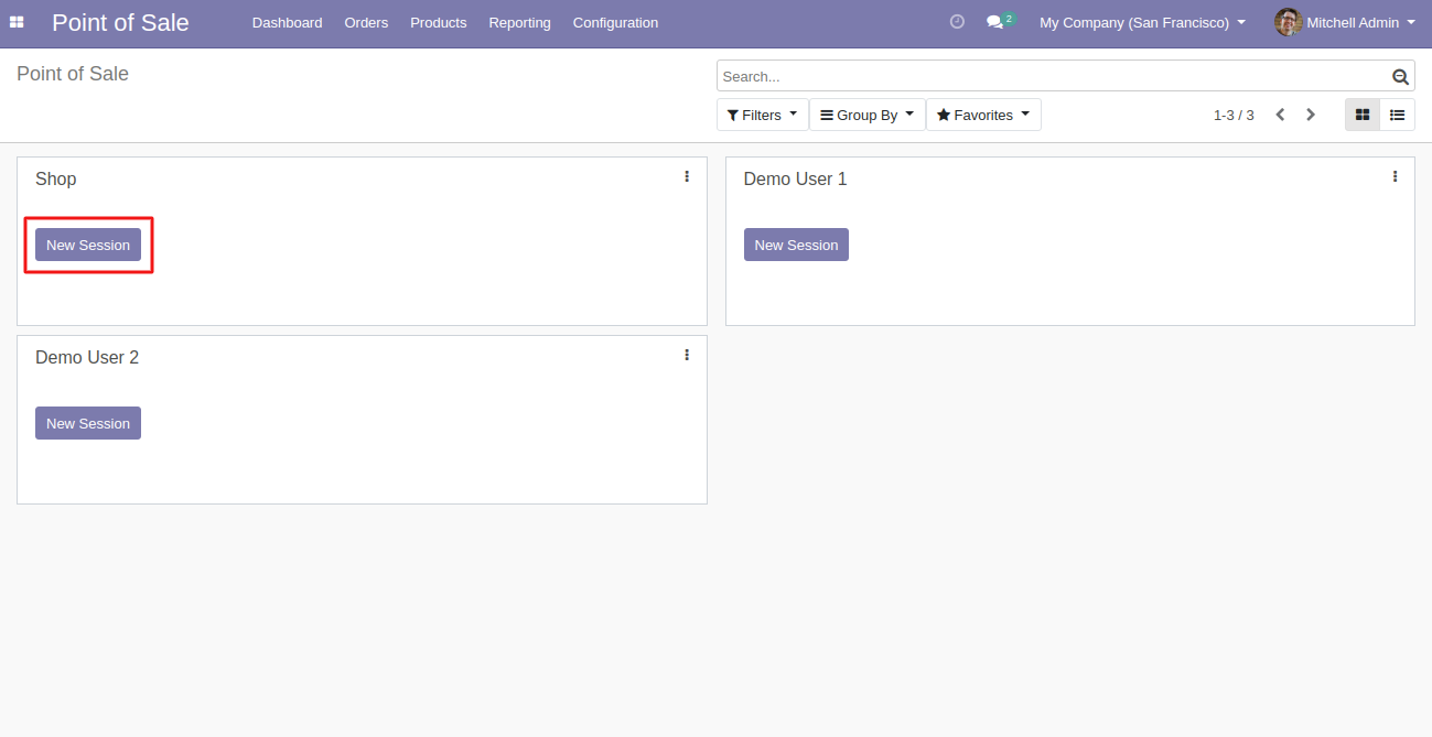 Start a POS session to use the Odoo POS Multi Category  module.