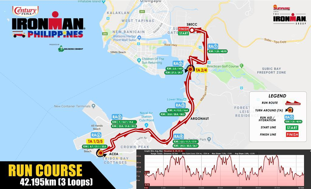 Run course map IM Philippines