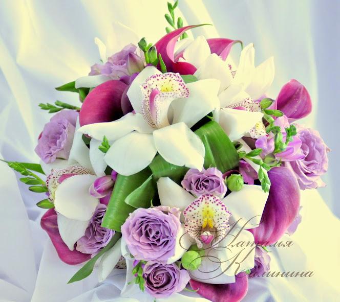букет невесты,Казань,доставка,каллы,орхидеи