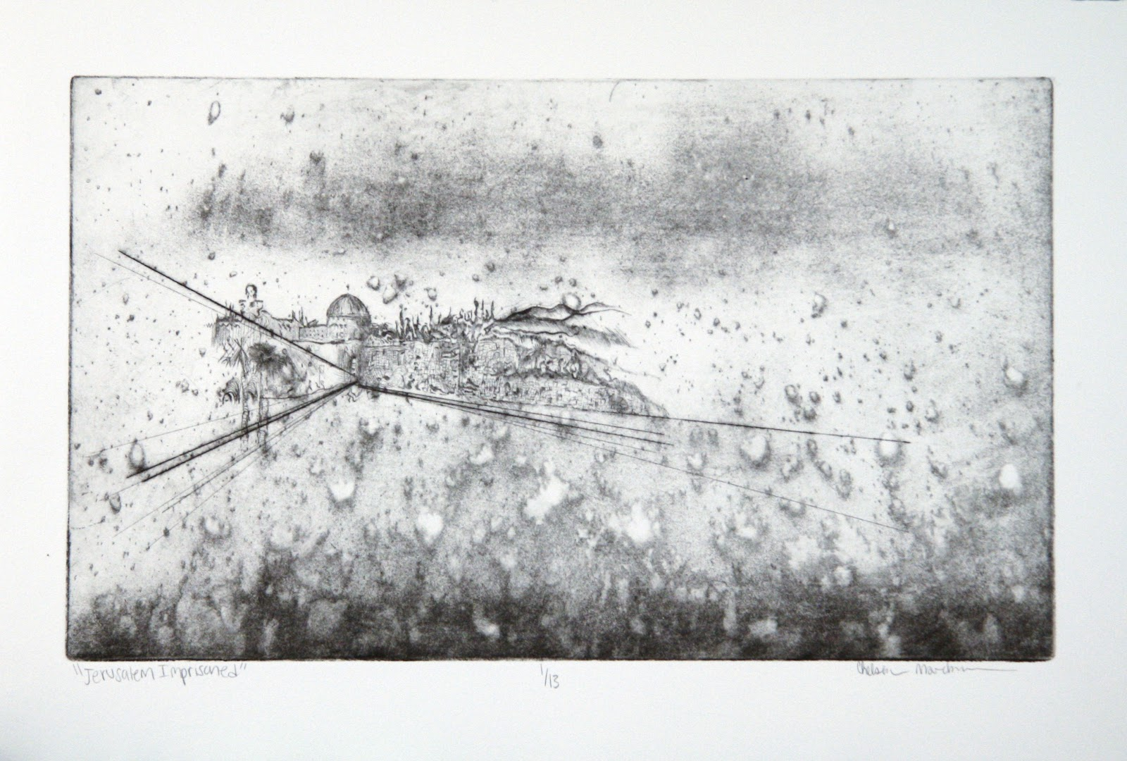 print of abstracted skyline