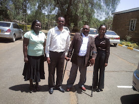The Kenya-based DirtPol team, Rebecca, Job, Dr Mbugua wa Mungai and Ann