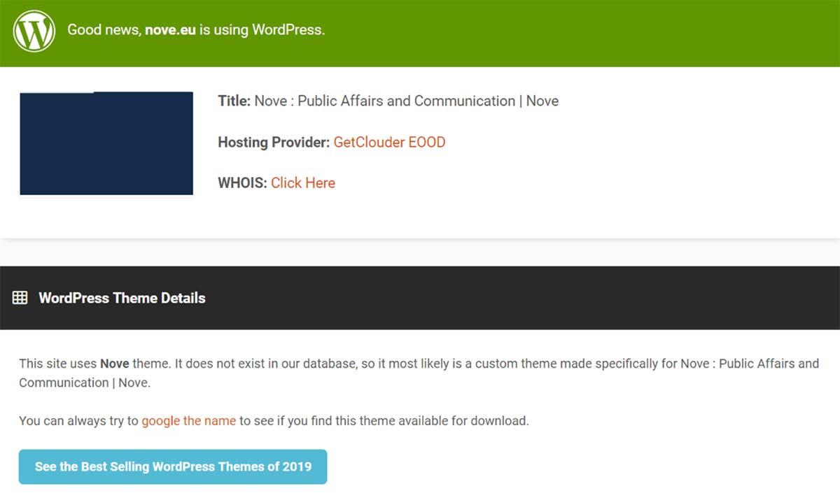 Ferramenta IsItWP checa se um site está usando a plataforma WordPress ou não