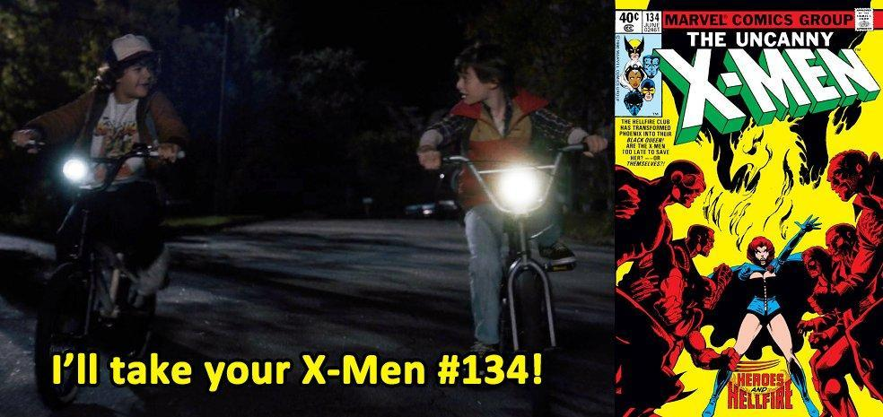Image result for x-men 134 stranger things gif