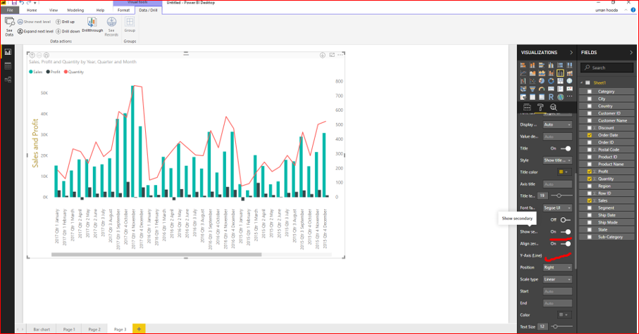 Dual Axis Chart in Microsoft Power BI - Step By Step 47