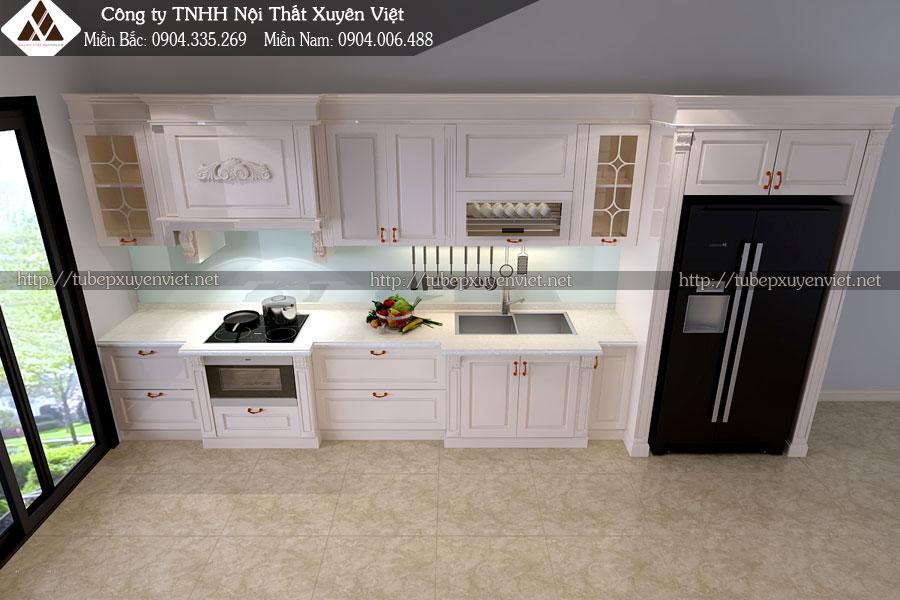 tủ bếp tân cổ điển xuyên việt 2