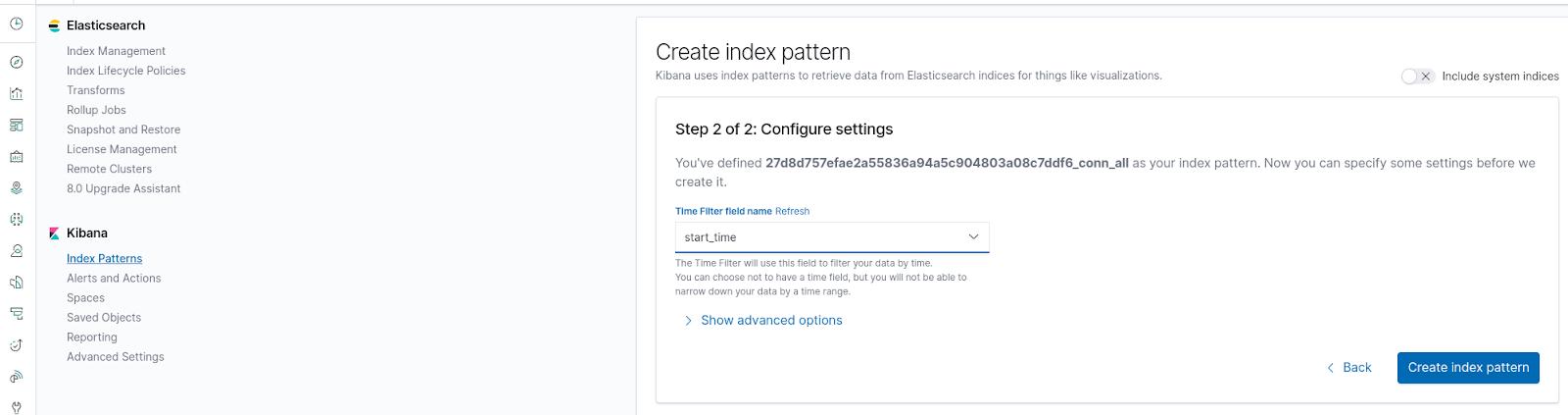 Create Index Pattern - Step2