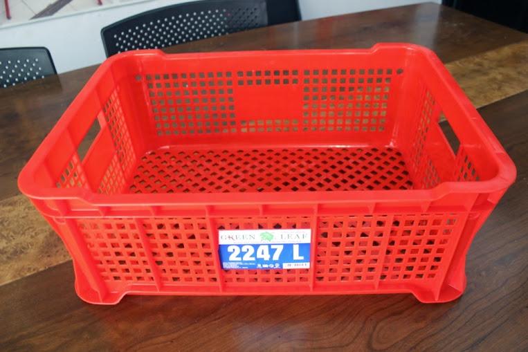 JUAL KERANJANG KONTAINER PLASTIK LOBANG TIPE 2247 L | Green Leaf | www.rumahrak.com | RAJA RAK INDONESIA | JAKARTA