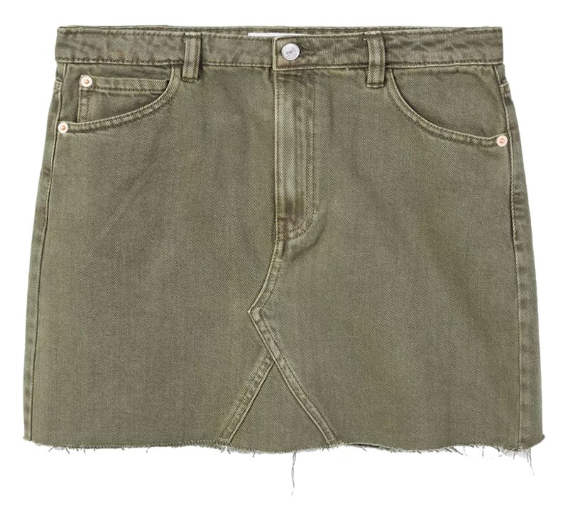 دامن جین کوتاه زنانه - مانگو