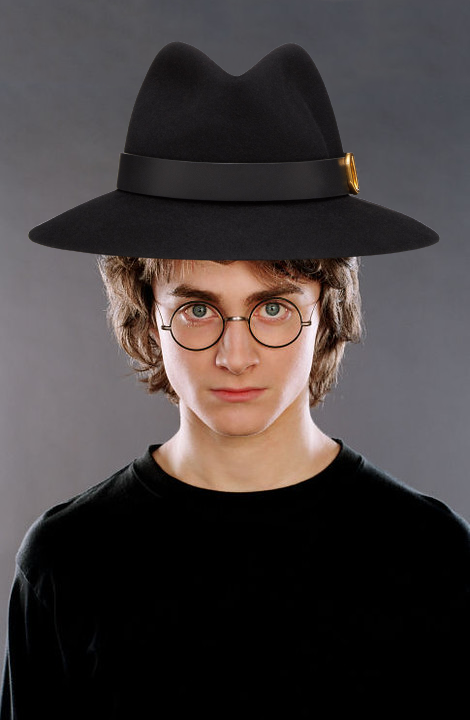Harry Potter with a fedora