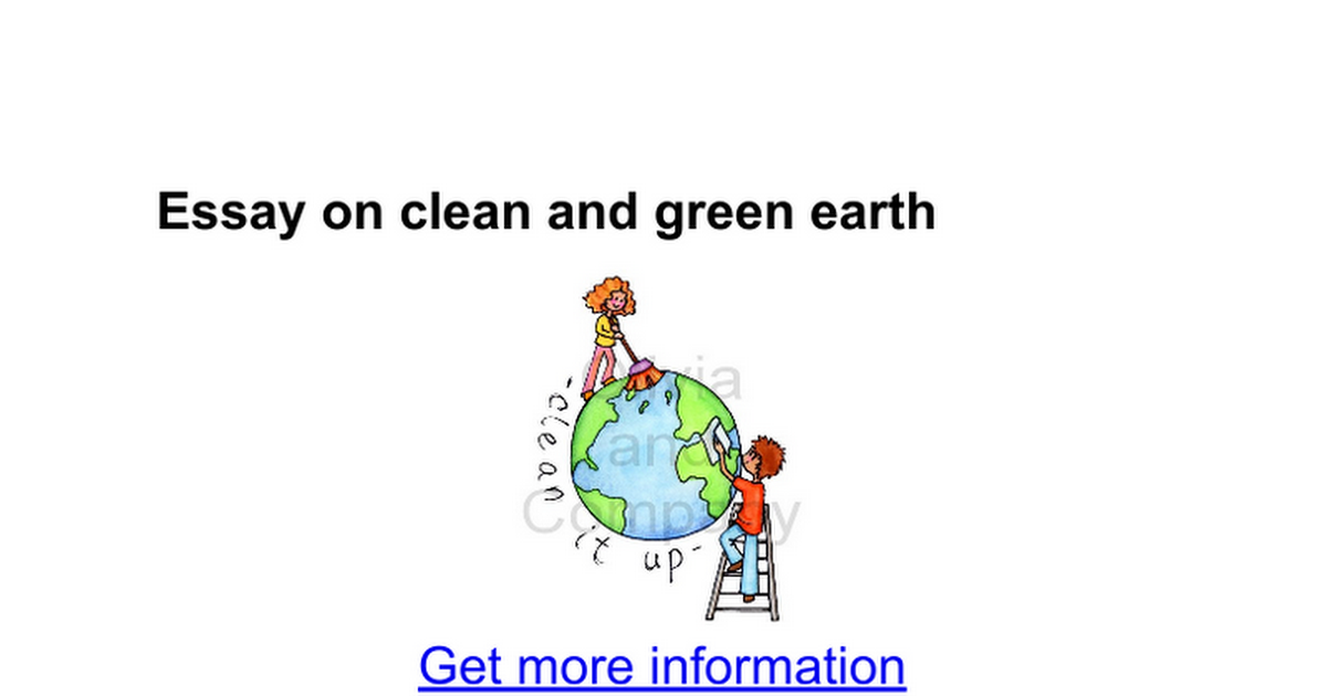 essay on clean and green earth google docs