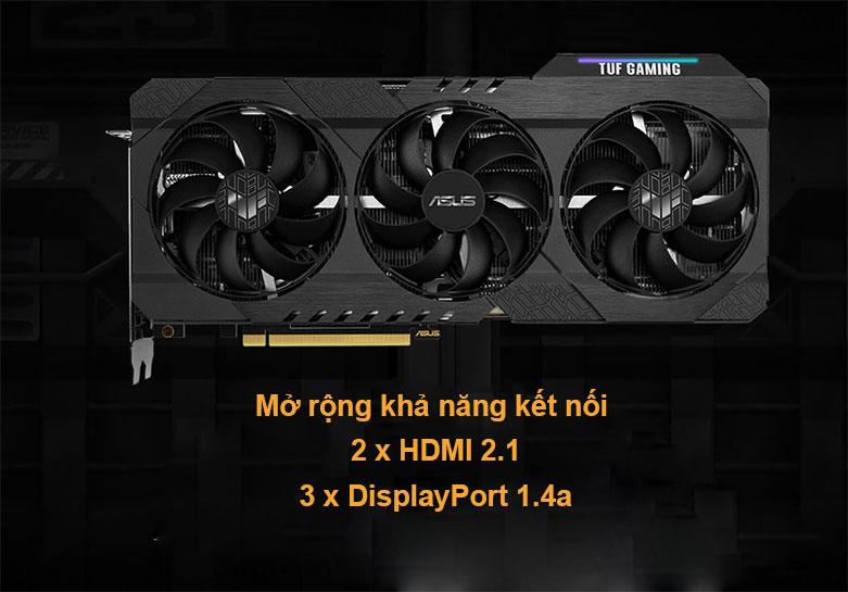 Card màn hình/ VGA ASUS TUF Gaming GeForce RTX 3060 OC 12G (TUF-RTX3060-O12G-GAMING) | Mở rộng khả năng kết nối
