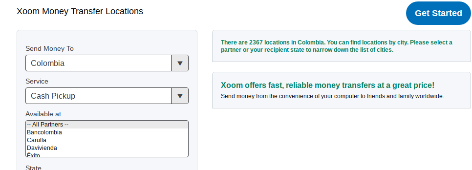 Xoom: Moving Money in Colombia Before You Get Your Bank Account