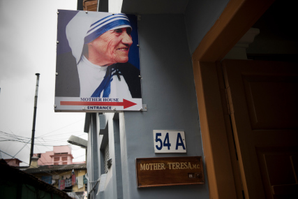 KOLKATA,INDIA SEPT 1: Exterior of the Mother House of the Missionaries of Charity