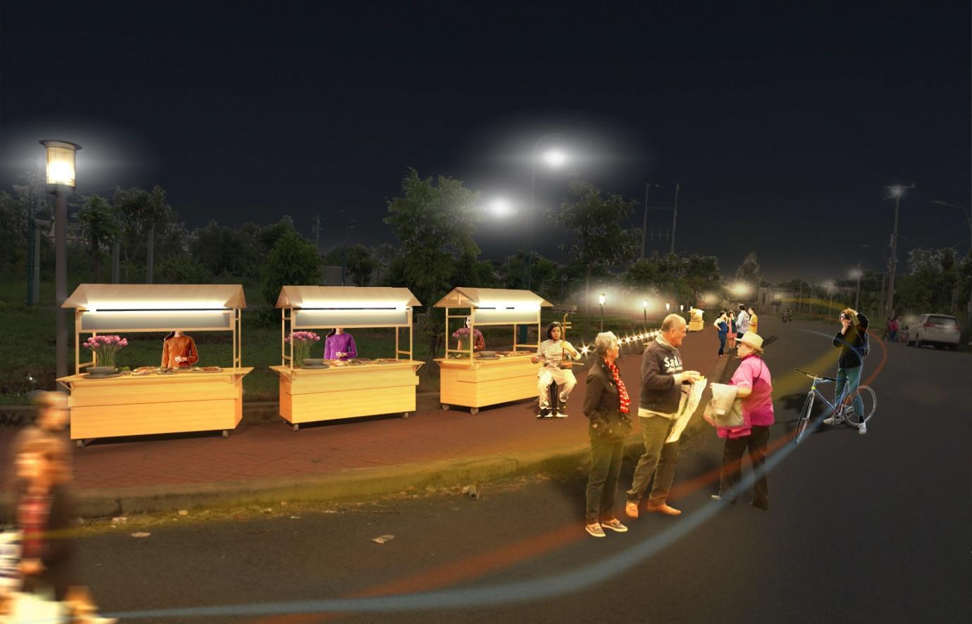 Sao Mai có phố đi bộ đầu tiên và lớn nhất tỉnh An Giang