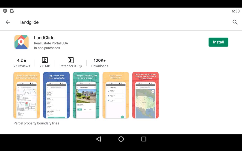 Landglide app on PC
