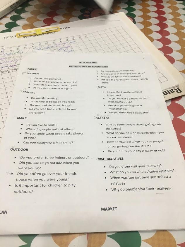 碧瑤語言學校JIC雅思模擬考