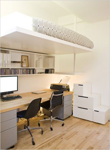 Floating Loft Bed for a Home Office