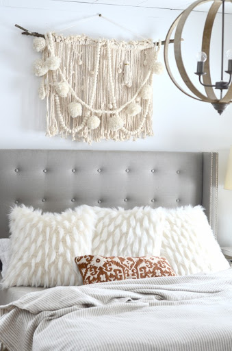 A Woven For Bedroom Headboard